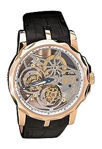 Beijing Watch Factory 18K Rose Gold Double Tourbillon Skeletonized