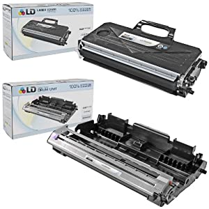 LD © Compatible Brother TN360 Toner and DR360 Drum Combo Pack: 1 Black TN360 Laser Toner Cartridge and 1 DR360 Drum Unit for use in DCP-7030, DCP-7040, DCP-7045N, HL-2140, HL-2150N, HL-2170W, MFC-7320, MFC-7340, MFC-7345DN, MFC-7345N, MFC-7440N & MFC-7840W Printers