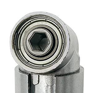 Right Angle Drill, 105 Degree Right Angle Driver Angle Extension Power Screwdriver Drill Attachment 1/4inch Hex Bit Socket Screwdriver Holder Adapter (Type II)