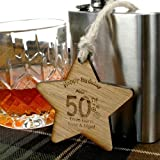 Personalised 50th Birthday Gift Ideas, 50th Birthday ideas, 50th birthday wooden star, 50th wooden gifts, Mens 50th Birthday Gifts, 50th Birthday Gift for Him,
