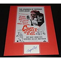 Virginia Mayo Signed Framed 16x20 Photo Poster Display Castle of Evil - Autographed...