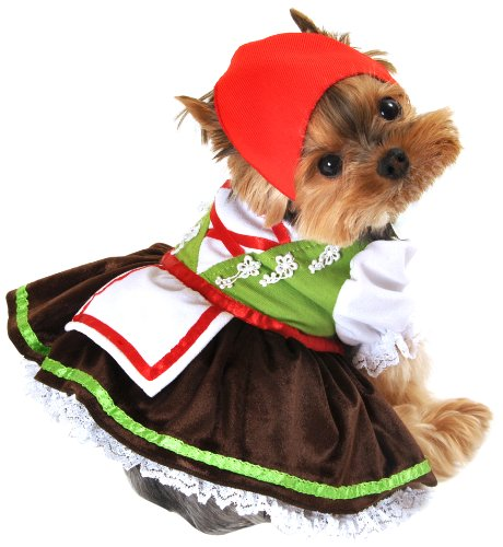 Anit Accessories Alpine Girl Dog Costume, Small, 12-Inch