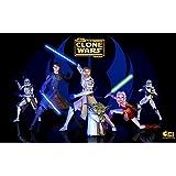 Posterhouzz TV Show Star Wars: The Clone Wars Ahsoka Tano Captain Rex Yoda Commander Cody...HD Wall Poster