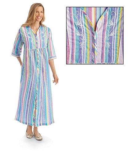 pastel-striped-zip-front-lounger-multi-x-large