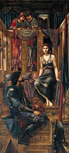 The Perfect Effect Canvas Of Oil Painting 'Sir Edward Coley Burne-Jones - King Cophetua And The Beggar Maid,1884' ,size: 8x18 Inch / 20x45 Cm ,this Reproductions Art Decorative Canvas Prints Is Fit For Home Theater Artwork And Home Artwork And Gifts