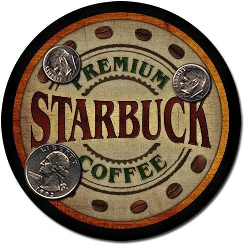 Starbuck Family Name Coffee Drink Coasters - 4 Pack