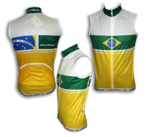 Image of JOLLYWEAR Cycling windproof Vest of Windtex(BRAZIL collection) (B0032W7B8M)