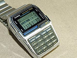 Casio Telememo 150 Luminous Keypad Metal Band Databank Watch #DBC1500B-1