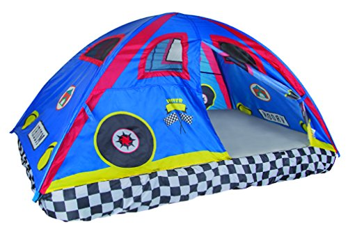 Pacific Play Tents Kids Rad Racer Bed Tent Playhouse - For Full Size Mattress (Kids Full Beds compare prices)
