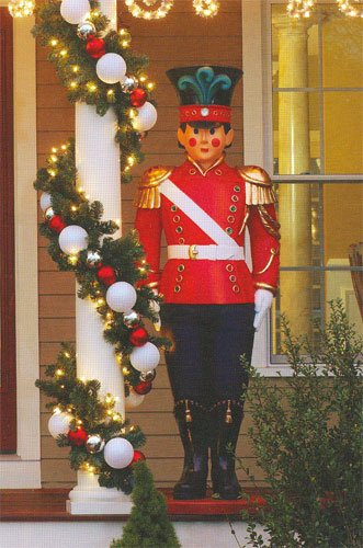 Giant Commercial Grade Fiberglass Toy Soldier Christmas Decoration Display 6' front-480524