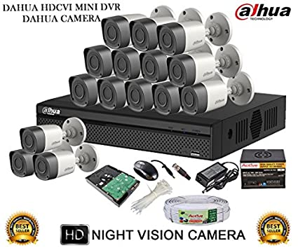 Dahua-DH-HCVR4116H-S2-16CH-Dvr,-15(DH-HAC-HFW1000RP-0360B)-Bullet-Cameras-(with-Mouse,-2TB-HDD,Cable,-Bnc&Dc-Connectors,Power-Supply)