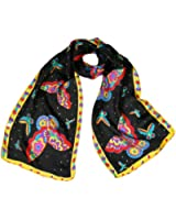 "Wrapables Vibrant 100% Silk Long Scarf 51"" x 10.5"""
