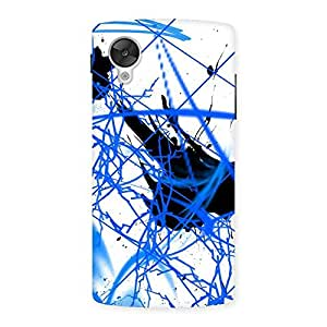 Blue Splasher Back Case Cover for Google Nexsus 5