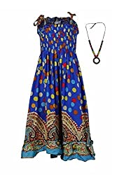 Pikaboo Strappy Summer Dress - Blue