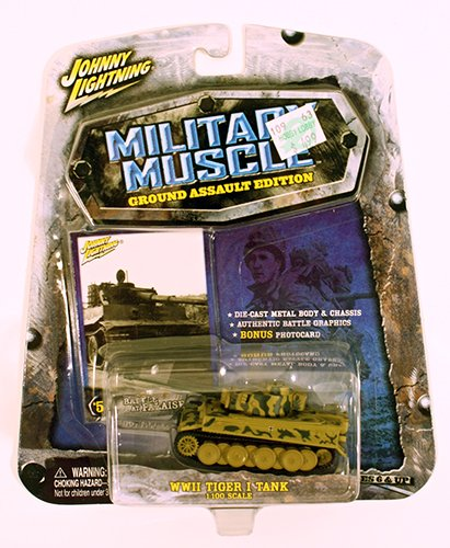Johnny Lightning Military Muscle WWII Tiger I Tank 1:100 Scale