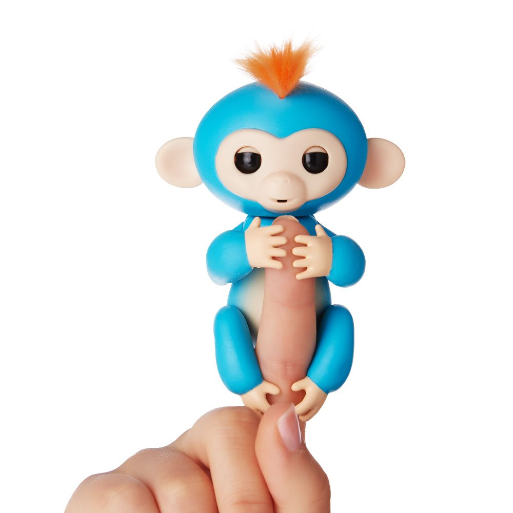 Blue Boris Fingerlings Interactive Baby Monkey