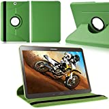 TGK® Leather 360 Degree Rotating Case Cover Stand For Samsung Galaxy Tab S2 9.7 Inch SM T810 T815 (Green)