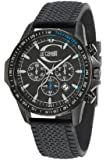 Just Cavalli Unisex Watch R7271693025 In Collection Actually with Chronograph, Black Dial and Black Strap