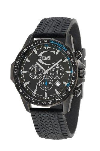 Just Cavalli R7271693025 - Reloj unisex de cuarzo, correa de silicona color negro