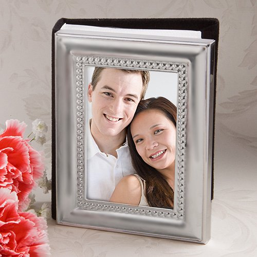 Matte Silver Metal Frame Design Photo Album