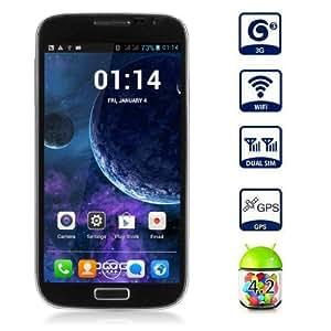 """Smartphone Doogee DG300 5.0"""" écran tactile Google Android 4.2 Débloqué Dual Core Dual SIM 3G Wi-Fi Bluetooth - Noir - resolution 960 x 540 - caméra arriÃ..re (5,0 mégapixels), caméra frontale (2,0 Mégapixel) - pour orange, SFR, Bouygues"""
