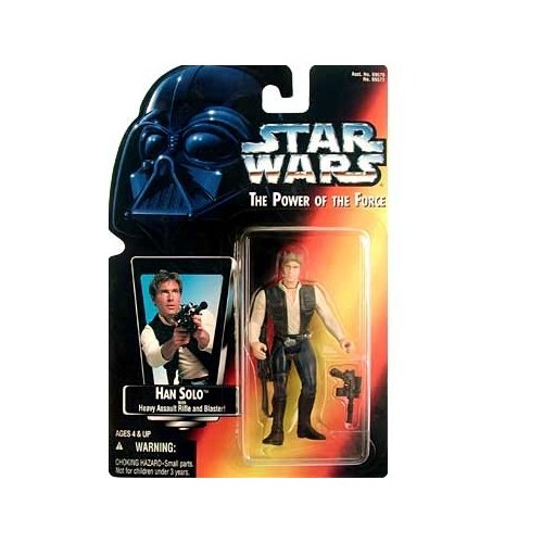 Star Wars Power of the Force - Red Cardback Non-Hologram Han Solo with Heavy Assault Rifle & Blister