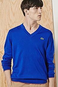 L!ve Cotton Jersey Semi Fancy V-neck Sweater