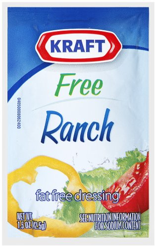 Kraft Ranch Dressing, Fat Free, 1.5-Ounce Pouches (Pack of 60)