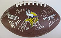 2016 Minnesota Vikings, Team, Signed, Autographed, NFL Logo Football, a COA with the Proof Photos of The Vikings Players Signing Will Be Included