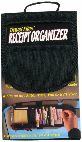 Travel Files Five-Pocket Mileage/Receipt Organizer, Black (00300) (Receipt Organizers compare prices)