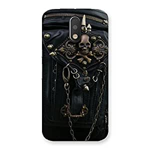 Ajay Enterprises Dangeress Zip Chain Back Case Cover for Motorola Moto G4