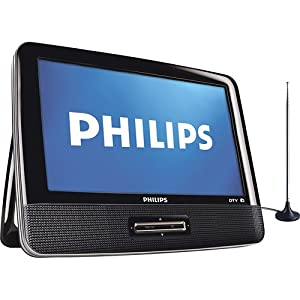 Philips PT902 9-Inches 1080p Portable Digital Television with Built-in HDTV and FM Tuner