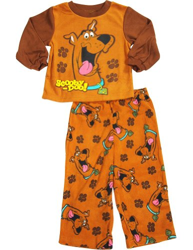 Scooby Doo - Little Boys Long Sleeve Scooby Doo Pajamas, Brown 33571-3T front-178853