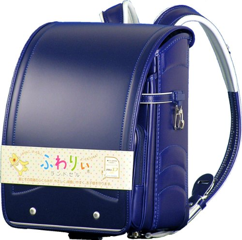 Fuwaryi compact wide satchel Blue Marine A4 Clear File A4 pocket...