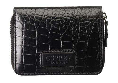 Osprey London Womens The Small Gaumont Zip Wallet Black