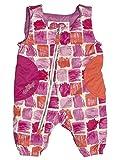 Obermeyer Arielle Bib Pants Girls 12 Months Baby Winter Snow Ski Suit Blue/White Stripe (Pink Paint Brush, 12 months)