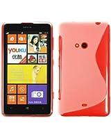 Custodia in Silicone per Nokia Lumia 625 - S-Style trasparente - Cover PhoneNatic + pellicola protettiva