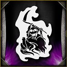 Grim Reaper 12 AirSick Airbrush Stencil Template