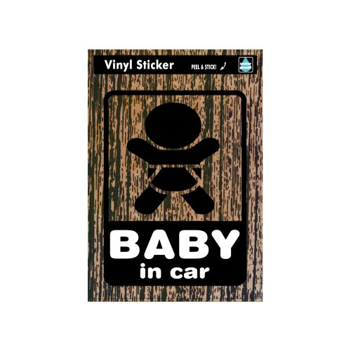 ゼネラルステッカー マジステ Baby in car-木目 ベビーインカーステッカー SK-136イメージ