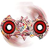 """Clytius Batman Shaped - Fidget Spinner Toy - Stress Reducer - Tri-Spinner Toy/Hand Spinner Toy - High Quality Stainless Steel Bearing - Useful For ADHD Focus Anxiety Relief Toys - Ideal LIke Fidget Cube Toy By """"Clytius.com"""" (Pack Of 1)"""
