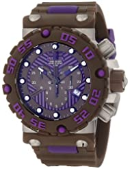 Invicta Men's 10044 Subaqua Nitro Diver Chronograph Brown and Purple Dial Brown Watch