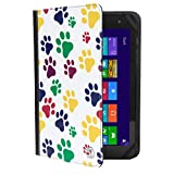 VanGoddy Mary 2.0 Standing Portfolio Case for NeuTab N10 Plus / N10 / K1 / N9 Pro 9 to 10.1 inch Tablets, Colorful Dog Paw