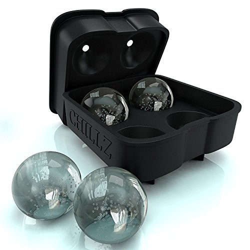 chillz-ice-ball-maker-mold-black-flexible-silicone-ice-tray-molds-4-x-45cm-round-ice-ball-spheres
