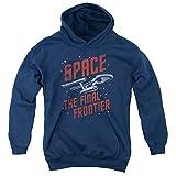 Star Trek - Espacio de viajes para j�venes Sudadera con capucha, X-Large, Navy