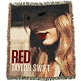 "TAYLOR SWIFT - 50"" x 60"" RED ALBUM COVER Tapestry Woven Blanket"