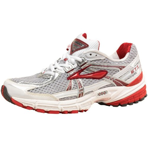Brooks Womens Adrenaline GTS 11 Stability Running Shoes White/Red