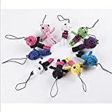5 Pcs New Style Voodoo Doll Keychains Mobile Pendant Kids Toy