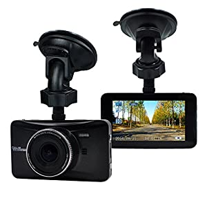 OldShark 170 Degree Wide Angle 3-inch Dash Camera 1080P Car DVR Recorder with G-Sensor Motion Detection and Night Vision with 32GB Memory Card