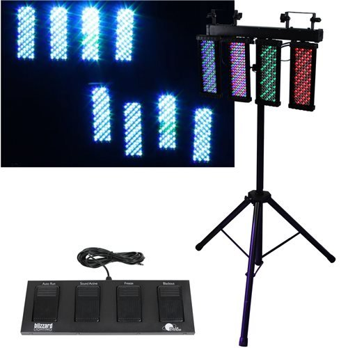 Blizzard Lighting Solar System 4 Head Led Bar System With Stand And Foot Control