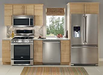 NEW Electrolux Stainless Steel 4 Piece Appliance Package with French Door Refrigerator #12